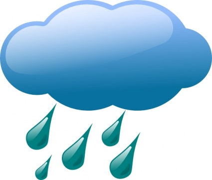 425x361 Rain Cloud Outline Vector