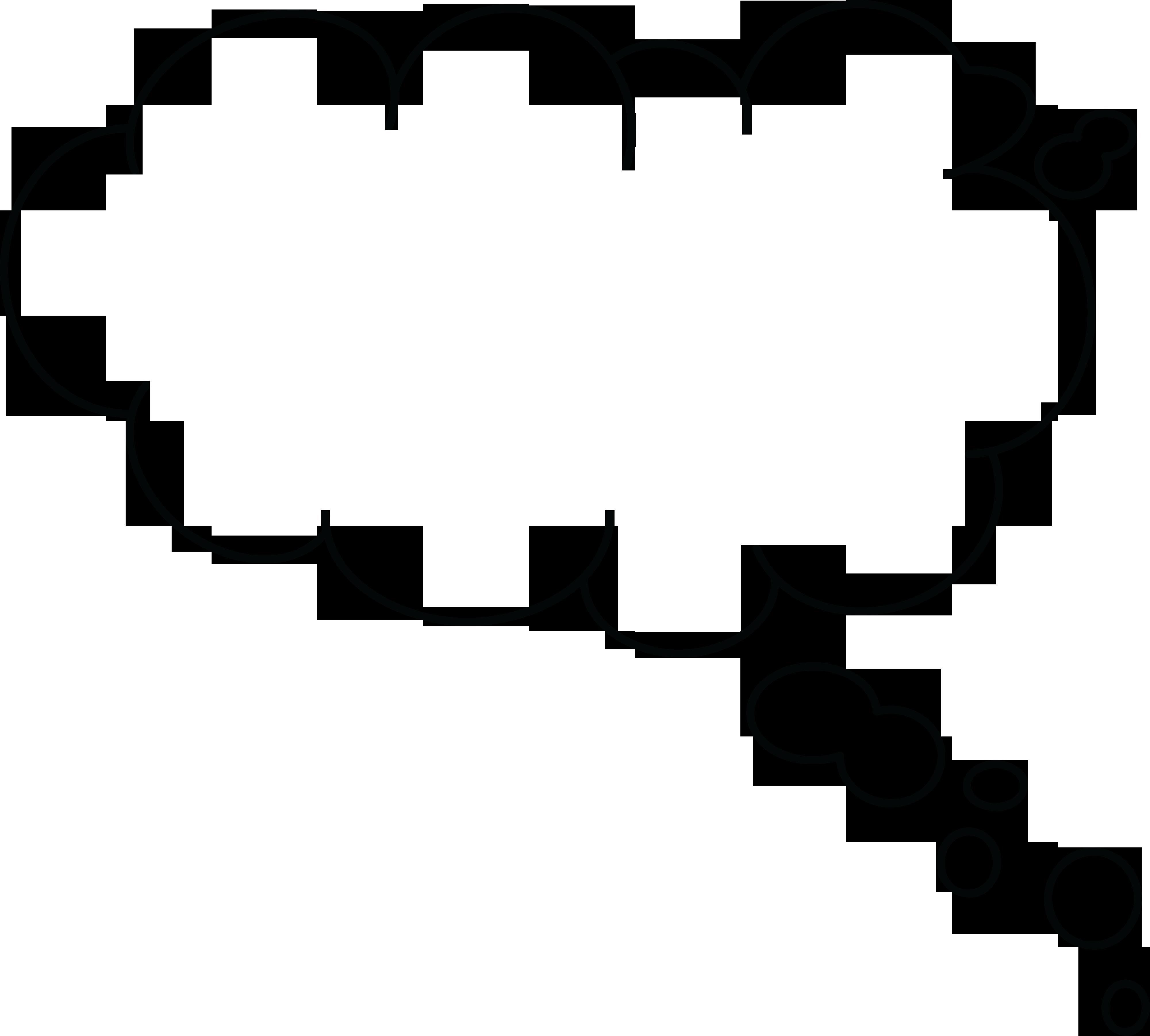 Cloud Outline Clipart   Free download best Cloud Outline