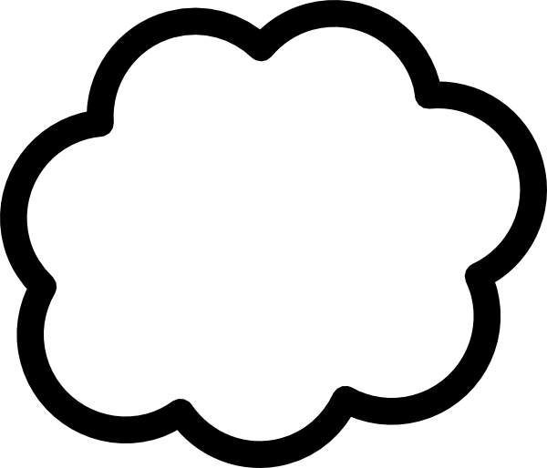 600x514 Cloud Black And White Cloud Clip Art Black And White Free Clipart
