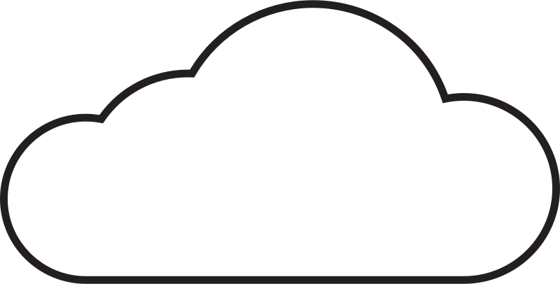 800x406 Cloud Clip Art Black And White Free Clipart Images