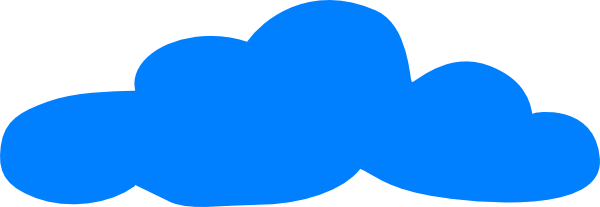600x207 Clouds Clipart Blue