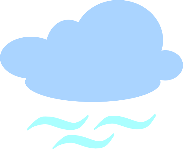 600x487 Clouds Clipart Windy