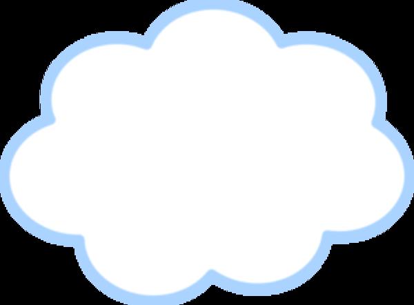 600x442 Free Blue Cloud Clipart Image