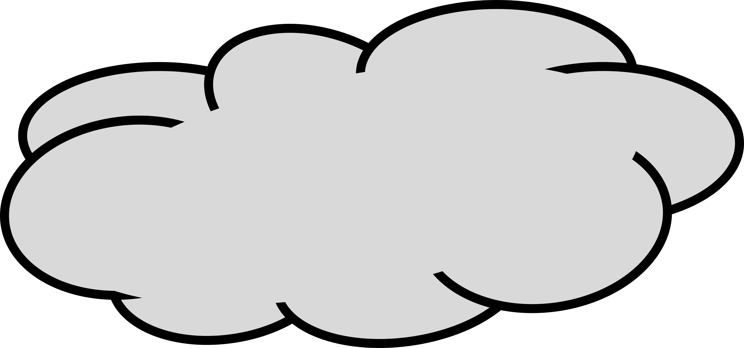 2400x1125 Gray Clipart Grey Cloud