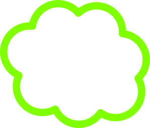 298x255 Green Cloud Clip Art