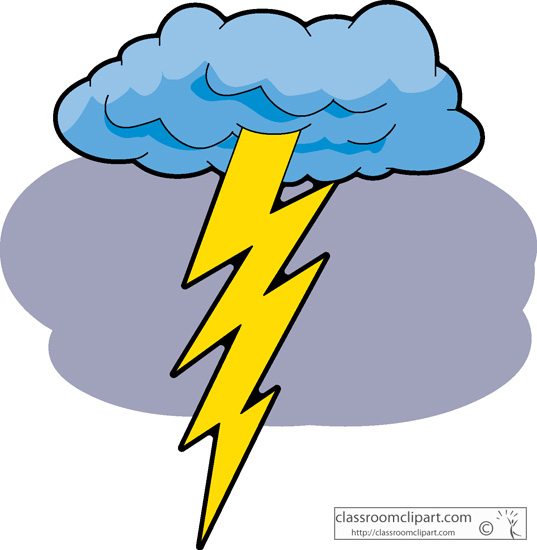 537x550 Lightning Clouds Clipart