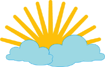 340x216 Sun And Clouds Clip Art