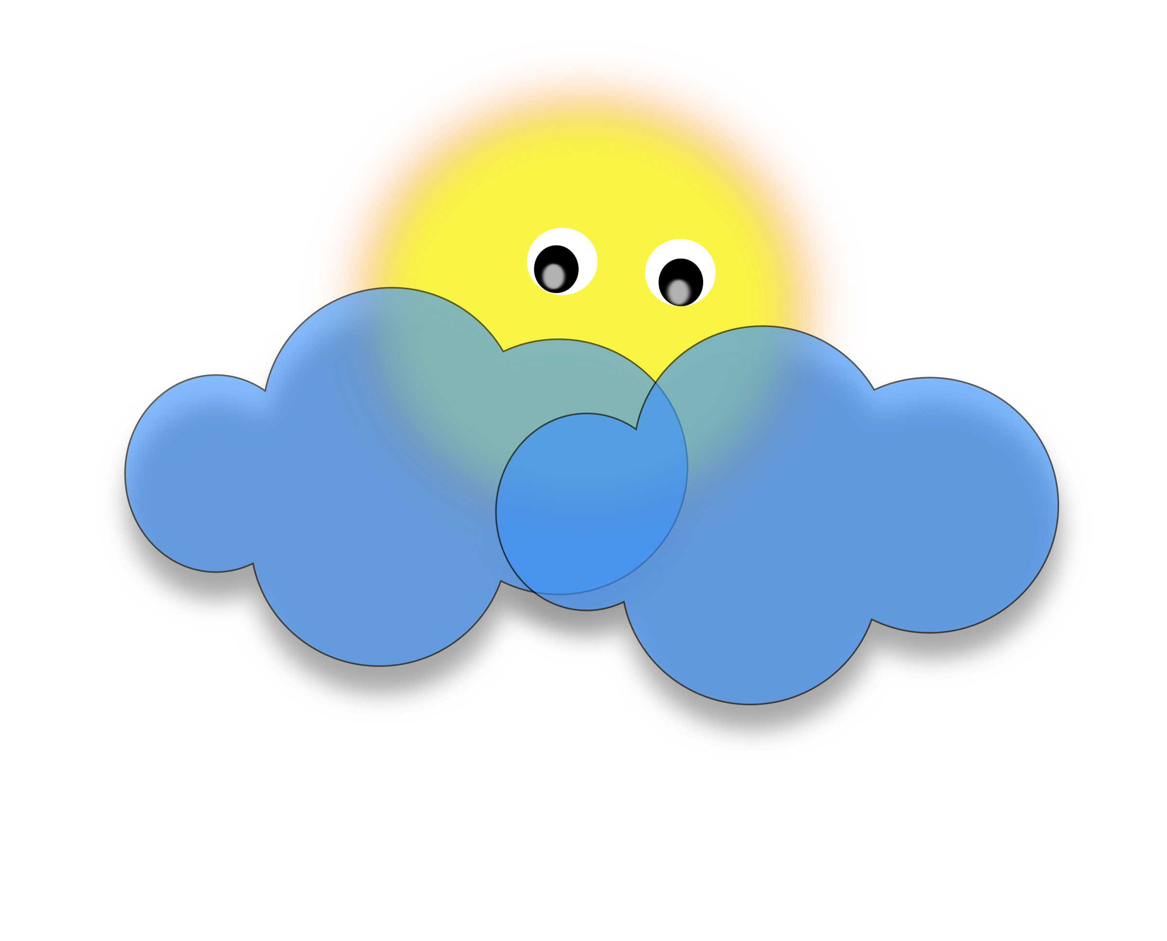 2400x1936 Sun Behind Clouds Clip Art Cliparts