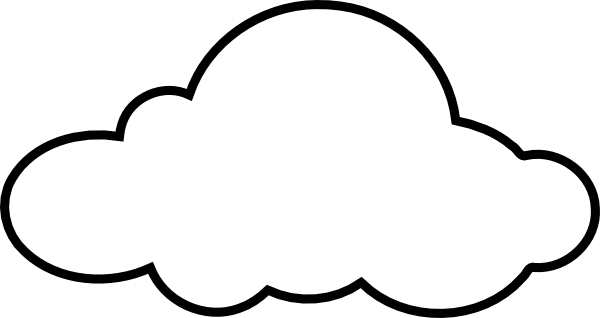 600x318 Free White Cloud Clipart Image
