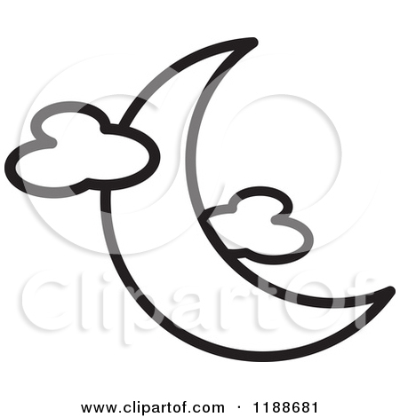 450x470 Moon Clipart Black And White