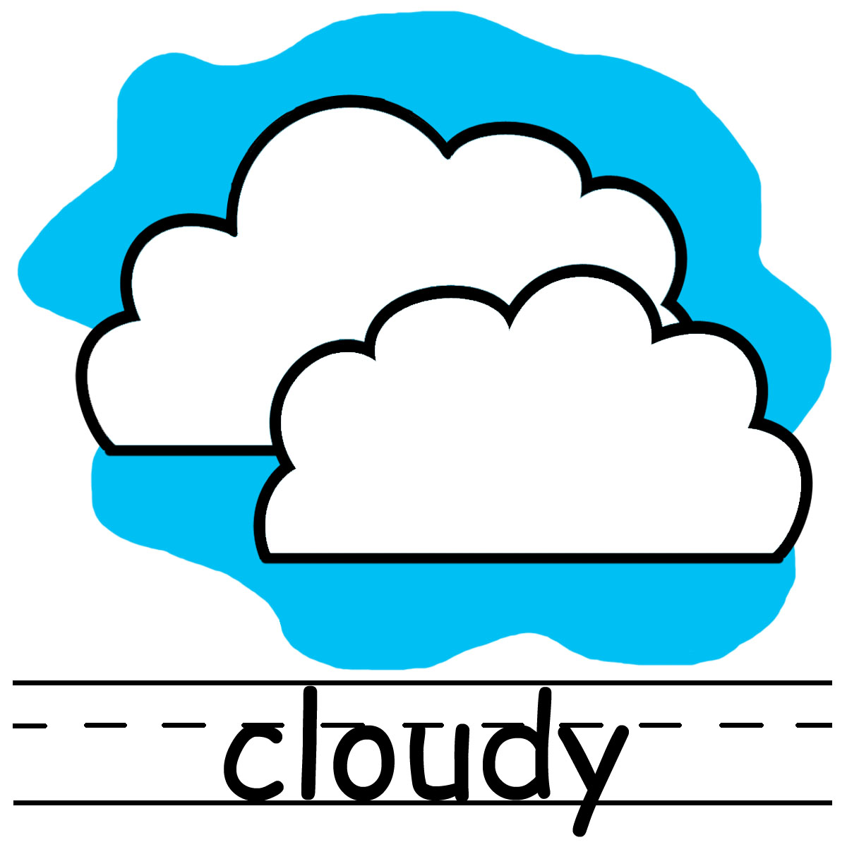 1200x1200 C Is For Cloudy Clipart