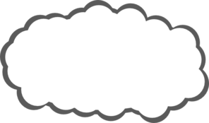 296x174 Cloud Black And White Clipart 1988012