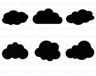 340x270 Cloud Clipart Etsy