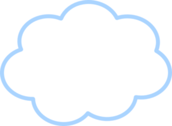 600x442 Clouds Clipart Blue