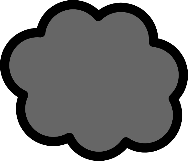 600x514 Gray Cloud Clip Art