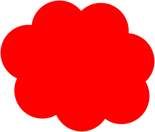 600x510 Red Cloud Clip Art