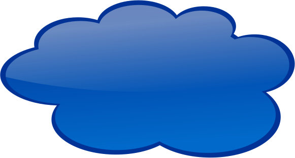 581x312 Speech Cloud Dark Blue Clip Art Download