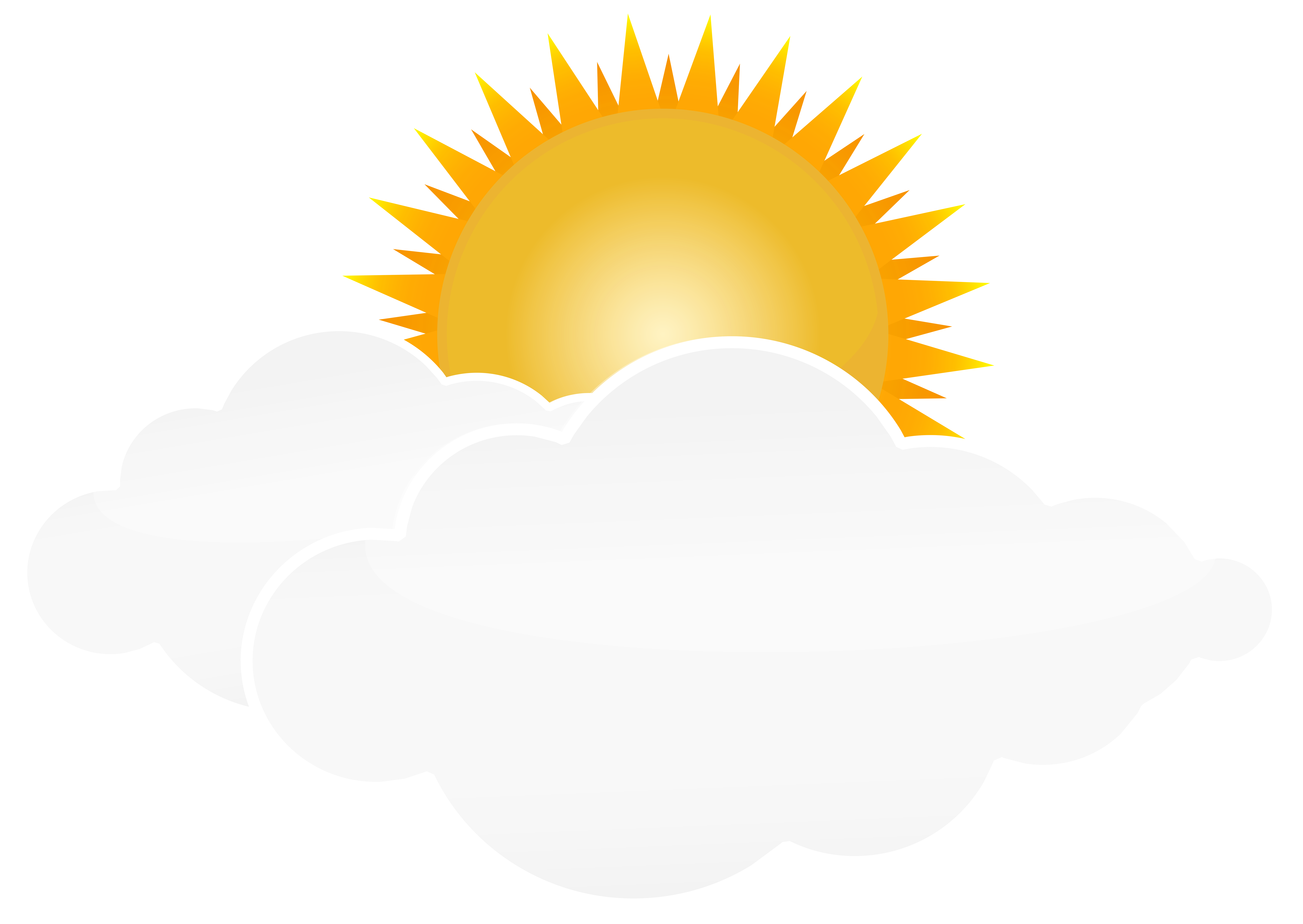 8000x5673 Sun And Clouds Clipart Png