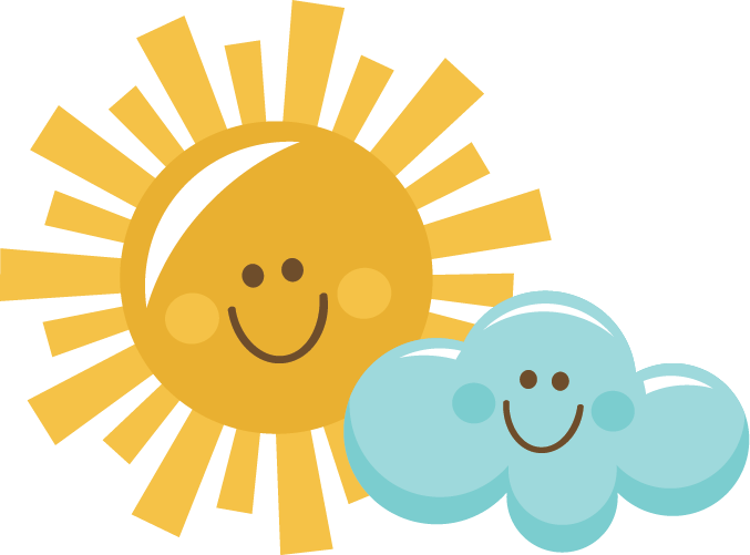 677x501 Sun With Cloud Clipart