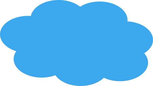600x339 Blue Cloud Clip Art