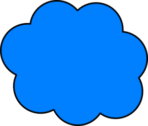 300x255 Blue Cloud Png, Svg Clip Art For Web