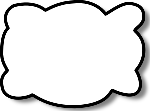 600x445 Callout Cloud Clip Art
