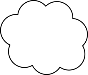 300x255 Cloud Cartoon Clipart