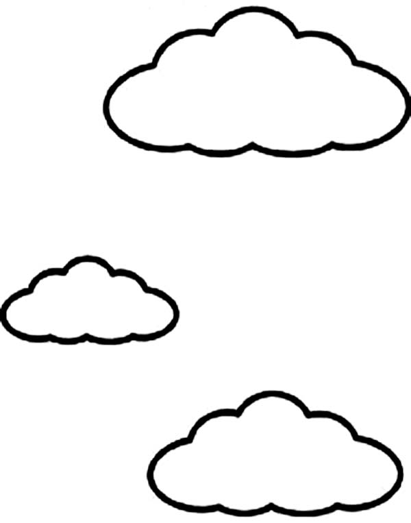 600x763 Drawn Clouds Coloring Page