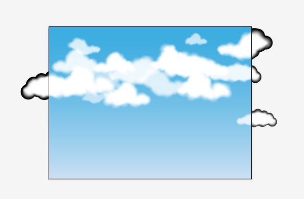 600x392 Drawn Clouds Easy