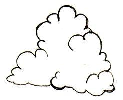 245x200 Drawn Clouds Fluffy