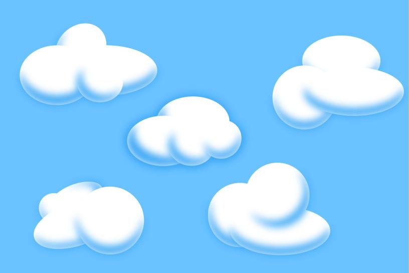 816x544 Cartoon Clouds In Adobe Illustrator