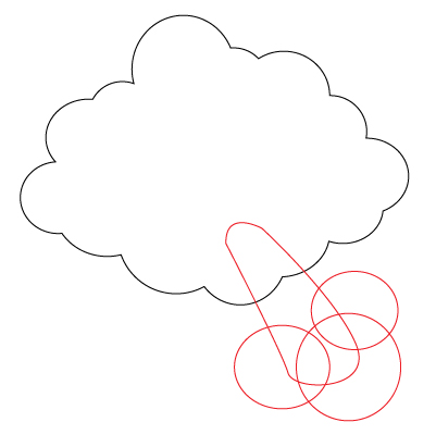 401x411 How To Draw A Blowing Cloud 7 Steps (With Pictures)