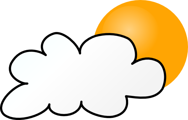 600x383 Cloudy Weather Clip Art Free Vector 4vector