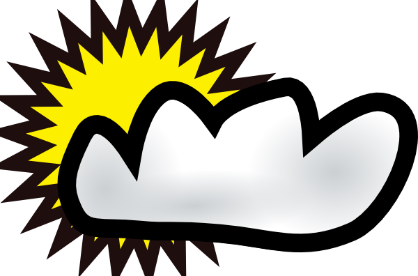600x396 Sunny Partly Cloudy Weather Clip Art Free Vector 4vector