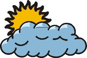 303x203 Clipart Cloudy Day Weather