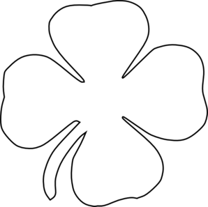 298x297 Clover Black And White Clipart