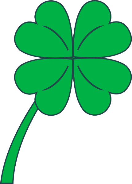 430x600 Four Leaf Clover Free Clover Clipart Public Domain Holiday