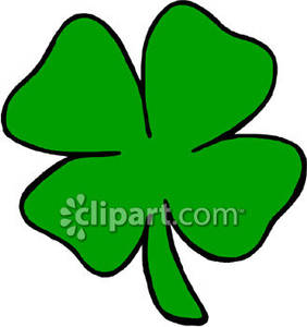282x300 Large, Green Four Leaf Clover