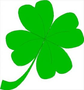 280x300 Shining Ideas Four Leaf Clover Clip Art Free 03 Clipart Graphics