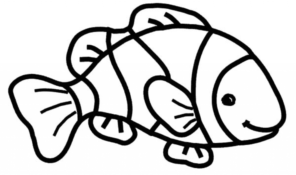 1024x606 Clown Fish Coloring Page 43952 Risingupagainstfgm For Clown Fish