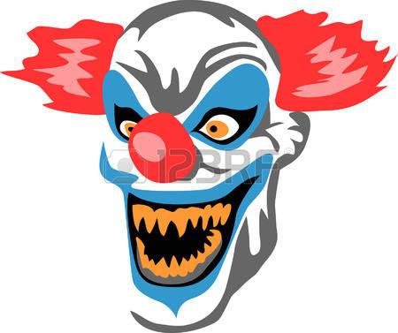 450x377 Clown Clipart Creepy