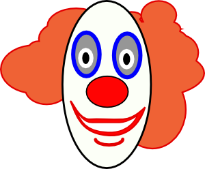 300x248 Creepy Clown Face Clip Art Free Vector 4vector
