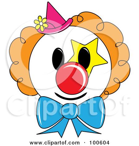 450x470 Cute Clown Face Clipart