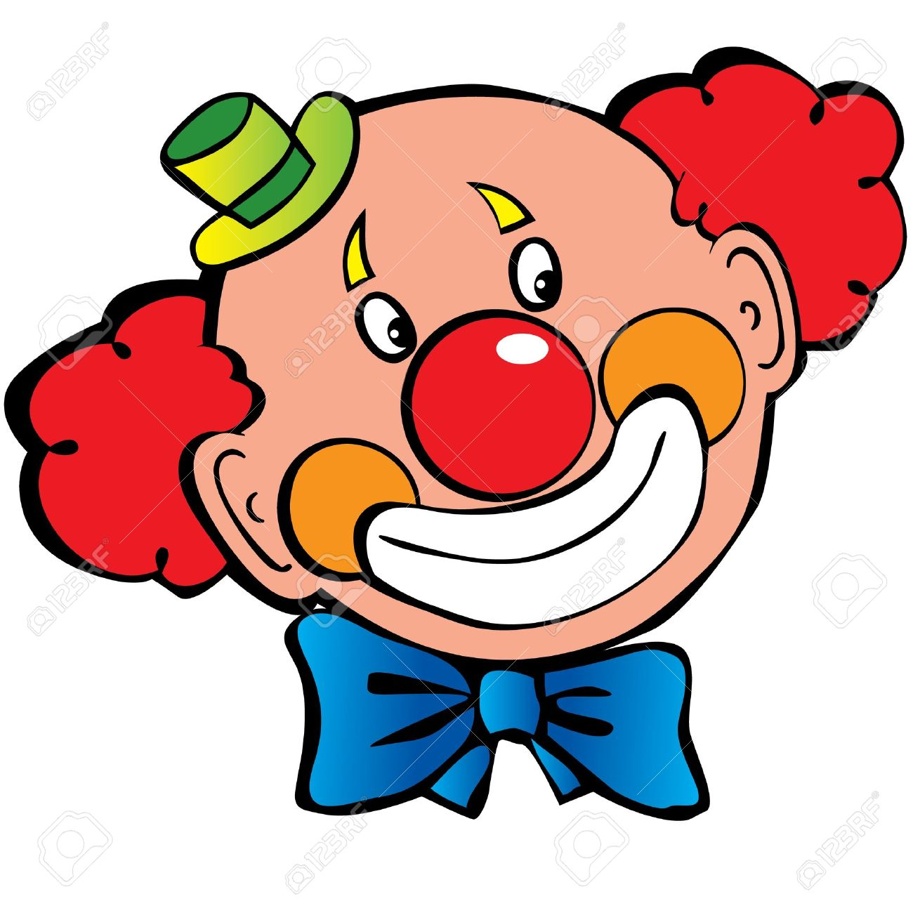1300x1300 Image Of Clown Face Clipart