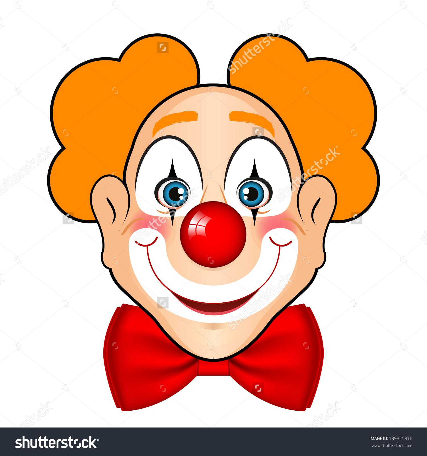 1500x1600 Cute Clown Face Clipart