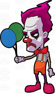 236x401 A Bald Creepy Clown Doing Magic Creepy Clown