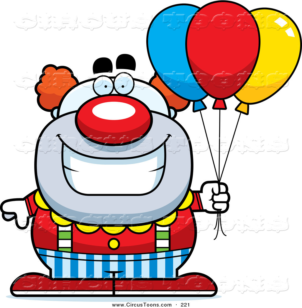 1024x1044 Circus Clipart Of A Grinning Pudgy Circus Clown With Balloons By
