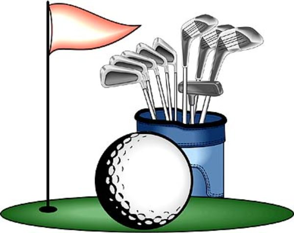 600x477 Free Golf Club Clipart Image Crossed