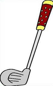 188x303 Golf Club Clipart