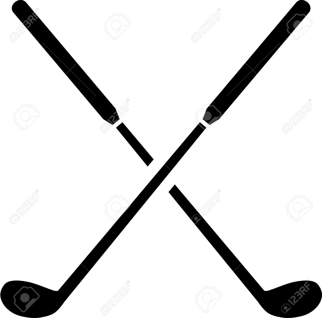 1300x1284 Golf Clubs Crossed Royalty Free Cliparts, Vectors, And Stock